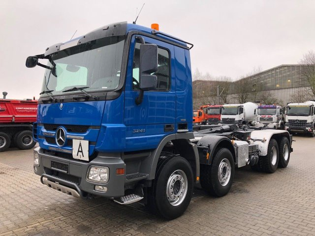 MB ACTROS 3241 8x4 EURO5 HAKOWIEC HIAB 30T
