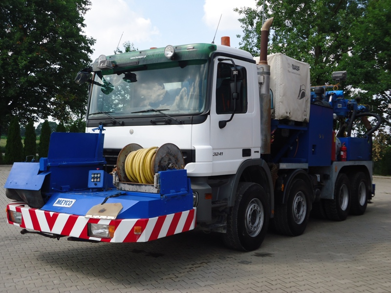 MB ACTROS 3241 8x4 EURO5 TUNNEL CONCRETE PUMP MEYCO ROADRUNNER