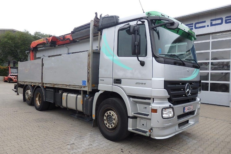 MB ACTROS 2544 6x2 EURO5 OPEN BOX WITH CRANE PALFINGER